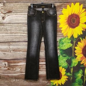 Southpole black wash flare jeans size 3 Pre-owned